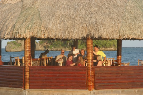 Drinks in the Palapa