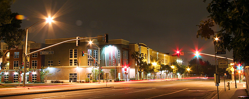 Santiago Street Lofts Santa Ana California Night View
