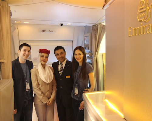 Emirates crew taking great care of us