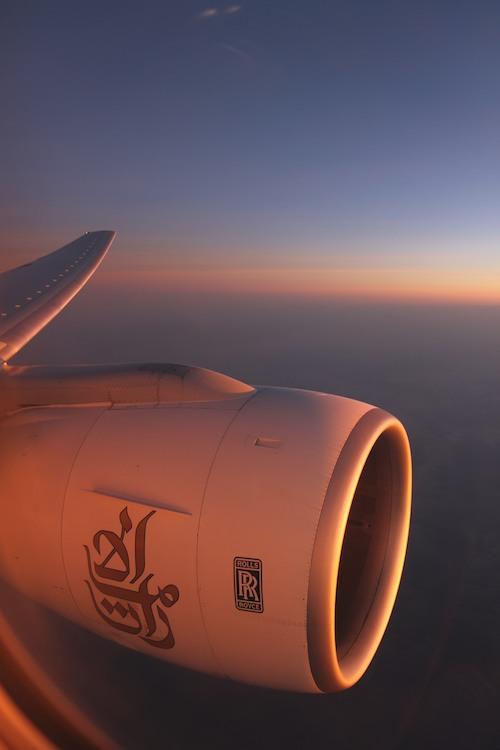 Emirates flight to Bangkok