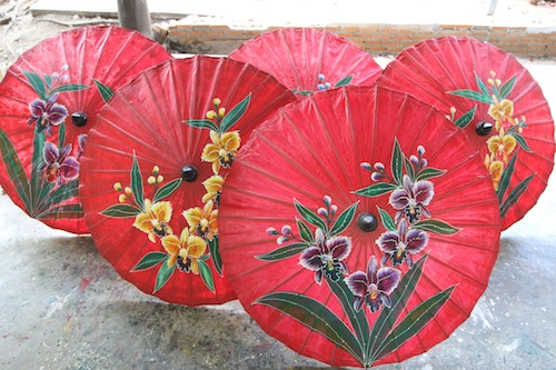 Umbrellas in Chiang Mai, Thailand