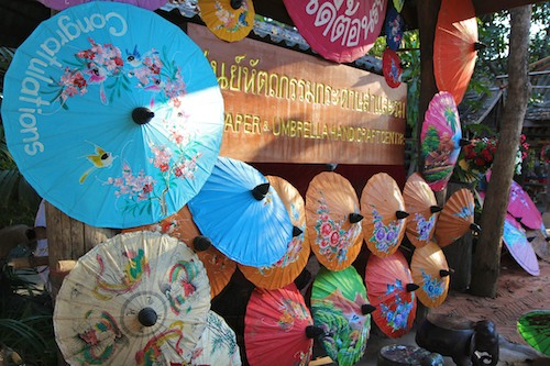 Chiang Mai umbrella factory, Thailand