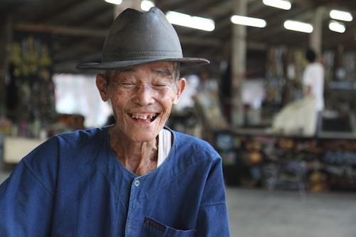 Umbrella-maker in Chiang Mai, Thailand