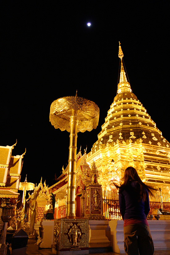Doi Suthep, the most spiritual place either of us have experienced.