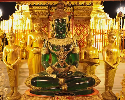 Emerald Buddha in Doi Suthep Temple, Chiang Mai, Thailand