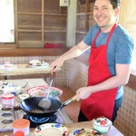 Jason Niedle cooking in Chiang Mai, Thailand