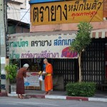 Monks begging in Lampang