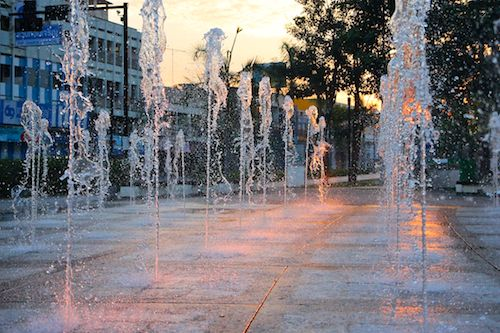 Fountains in Lampang, Thailand