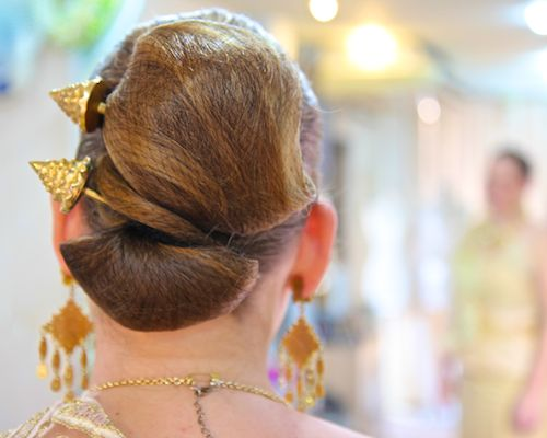 Melissa Priest hair at our Thai wedding of the Wedding World Tour