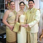 April Malina, Jason Niedle and Melissa Priest at the Thai ceremony of our Wedding World Tour