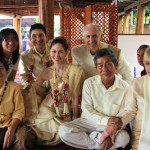 Group shot at Thai wedding ceremony of Wedding World Tour