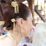 April Malina hair at Thai wedding ceremony