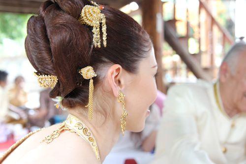 April Malina Hair At Thai Wedding Ceremony Jason S Travel