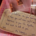 Gift tag at Thai wedding ceremony