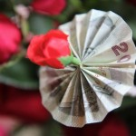 Money flower at Thai wedding ceremony