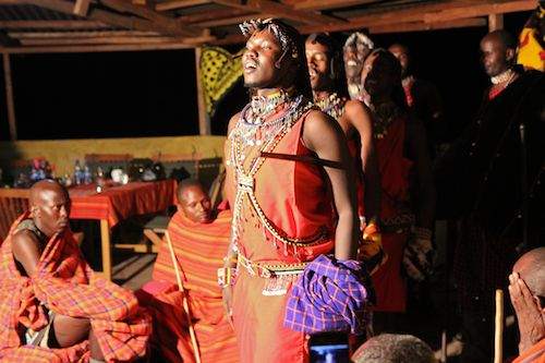 Maasai in Masai Mara doing traditional dance