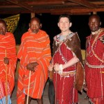 Maasai in the Masai Mara at wedding ceremony