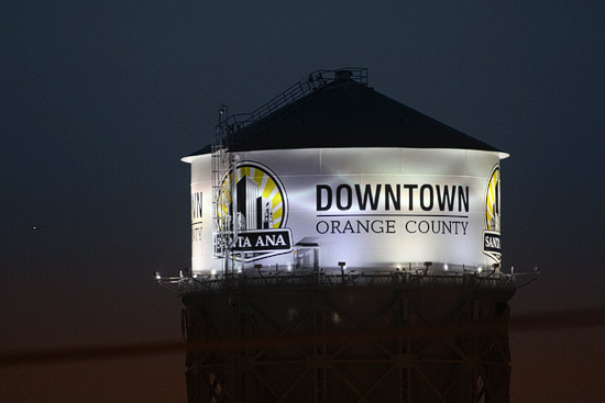 Santa Ana water tower May 2012