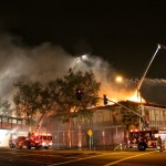 Fire at First St and Lyon in Santa Ana March 30 2013