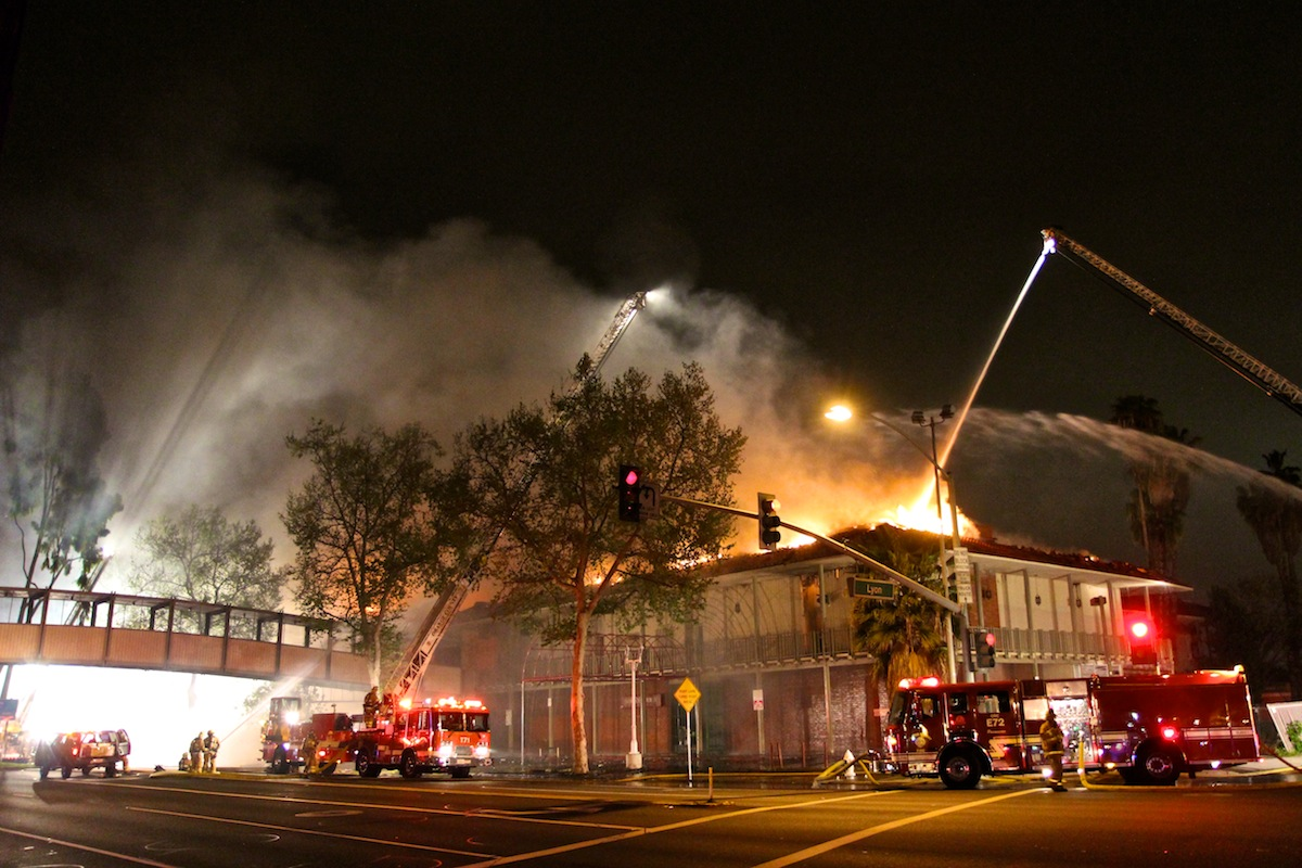 Old Saddleback Inn Fire, Santa Ana
